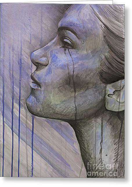 Tears In The Rain Greeting Card by Michael Volpicelli