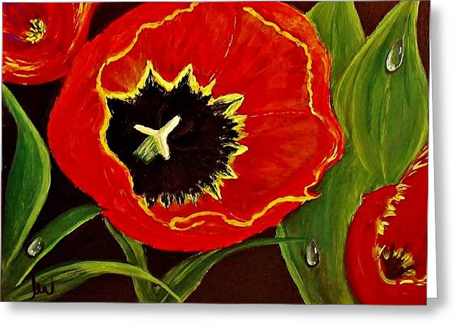 Greeting Card featuring the painting Tears Of Joy... by Cristina Mihailescu
