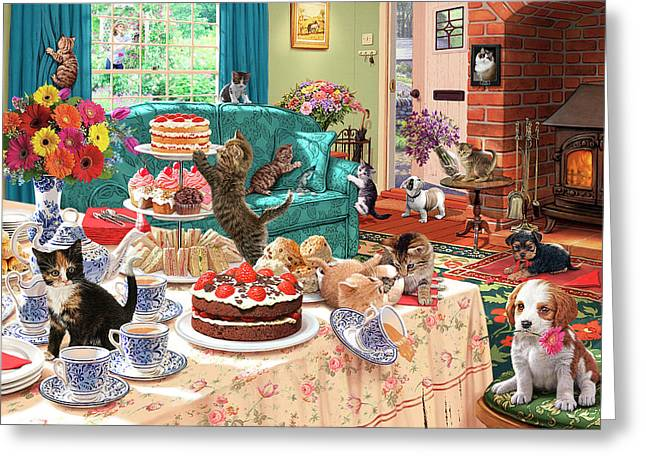 Teatime Terrors Greeting Card