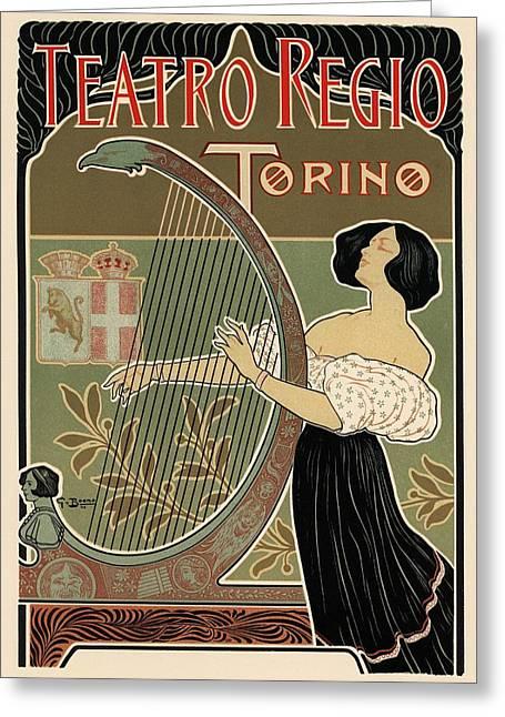 Teatro Regio Torino Greeting Card by Gianfranco Weiss