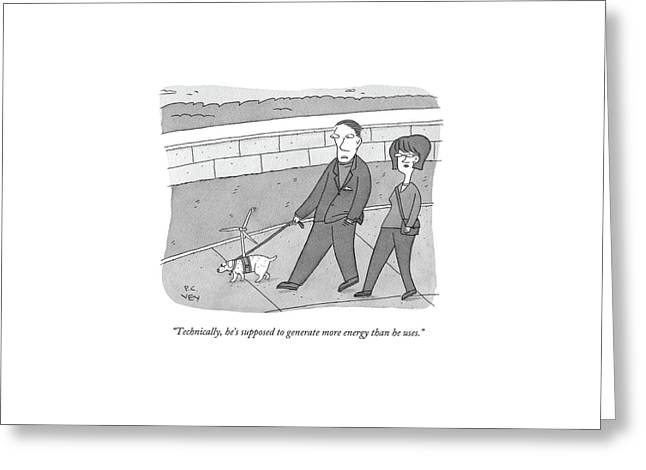 Technically Greeting Card by Peter C. Vey
