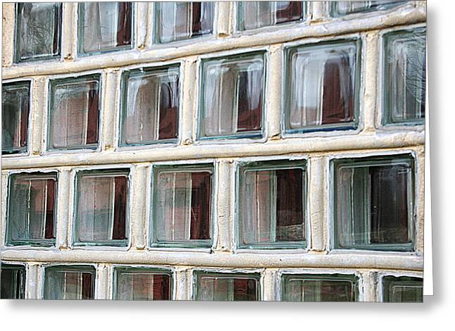 Greeting Card featuring the photograph Technocratic Windows by William Selander