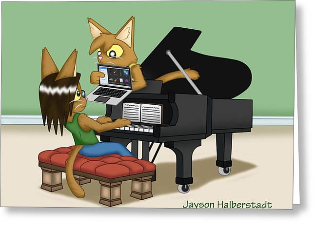 Musical Differences Greeting Card