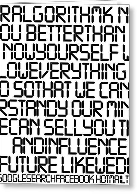 Technophobia Tnm Greeting Card by Mark Van den dries