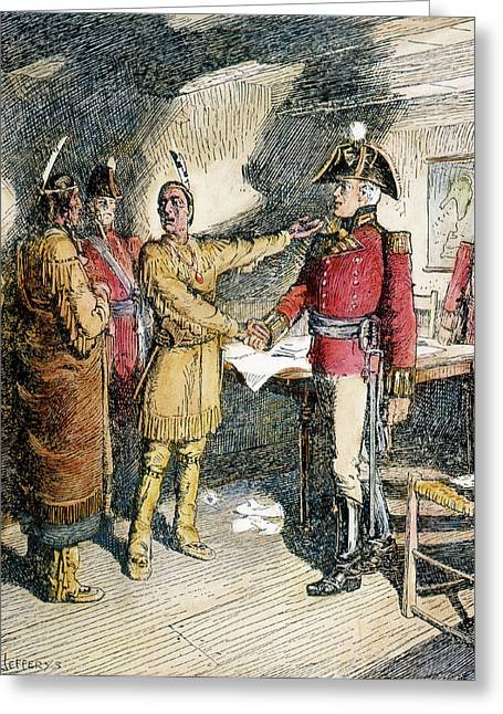 Tecumseh & Isaac Brock 1812 Greeting Card