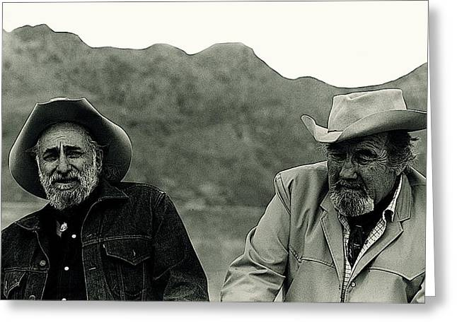 Ted Degrazia And Broderick Crawford Gallery In The Sun Tucson Arizona 1969-2009 Greeting Card by David Lee Guss