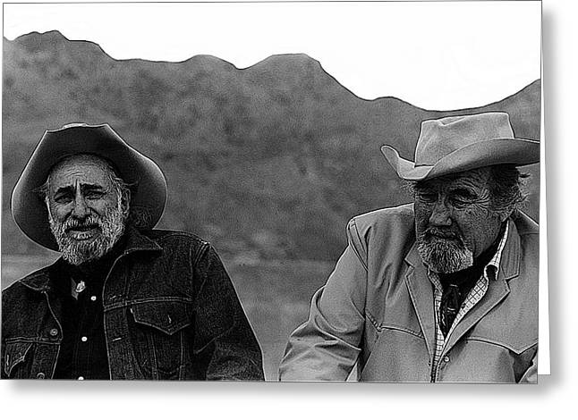 Ted Degrazia And Broderick Crawford Gallery In The Sun Tucson Arizona 3-1969-2009   Greeting Card by David Lee Guss