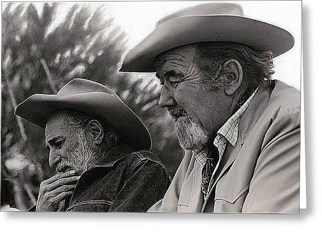 Ted Degrazia Broderick Crawford Gallery In The Sun Tucson 1969 Greeting Card by David Lee Guss