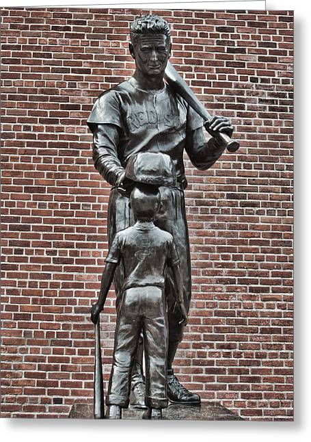 Ted Williams Statue - Boston Greeting Card by Joann Vitali