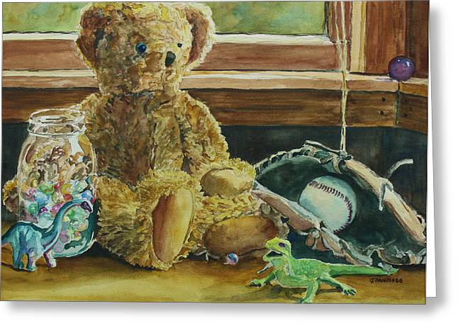 Teddy And Friends Greeting Card by Jenny Armitage