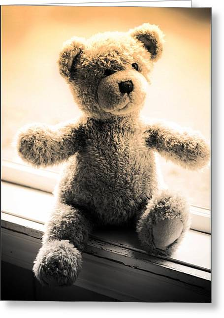 Greeting Card featuring the photograph Teddy B by Aaron Berg