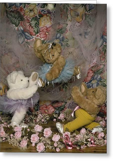 Teddy Bear Ballet Greeting Card