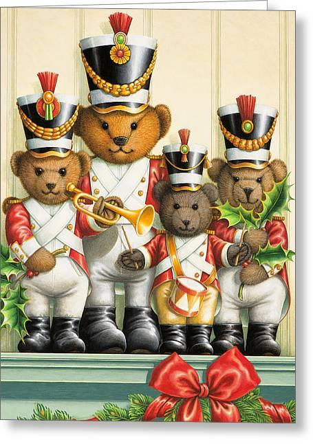 Teddy Bear Band Greeting Card