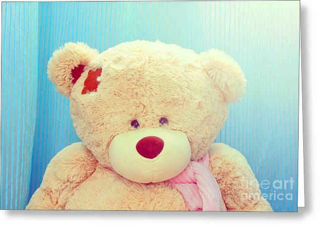 Greeting Card featuring the photograph Teddy Bear by Mohamed Elkhamisy