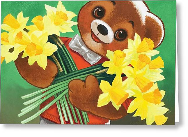 Teddy Bear Greeting Card by William Francis Phillipps