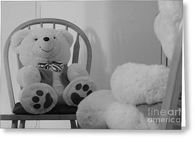 Teddy Greeting Card by Bobby Mandal