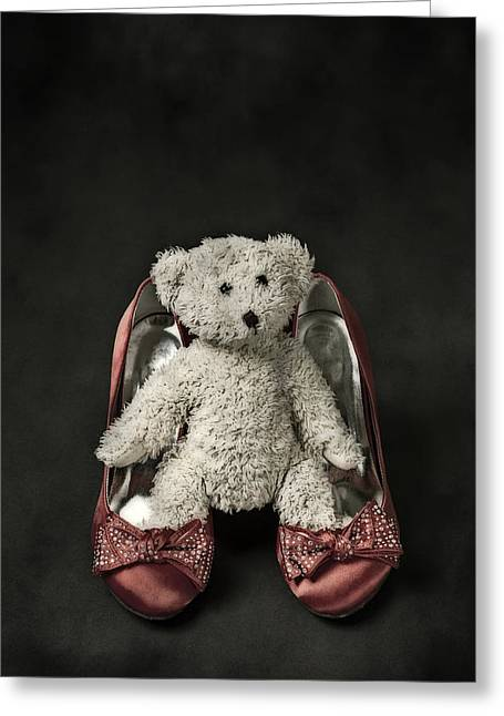 Teddy In Pumps Greeting Card by Joana Kruse