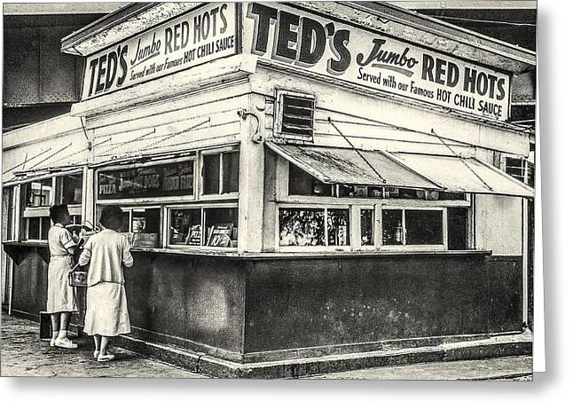 Ted's Red Hots Greeting Card