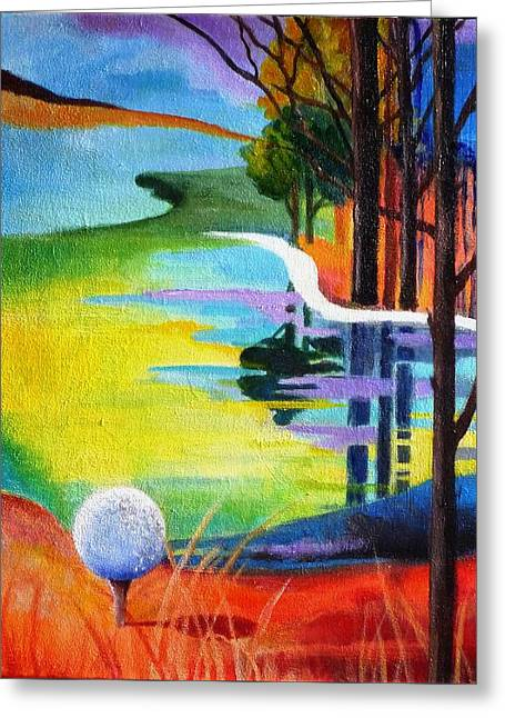 Tee Off Mindset- Golf Series Greeting Card