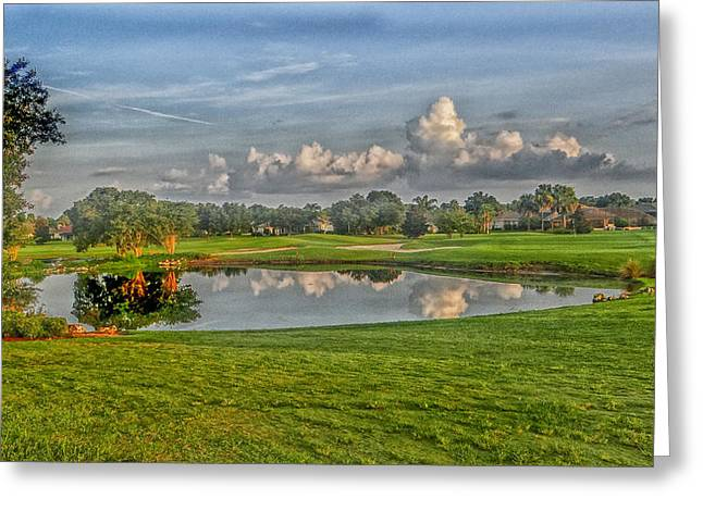 Tee Time 2 Greeting Card by Dennis Dugan