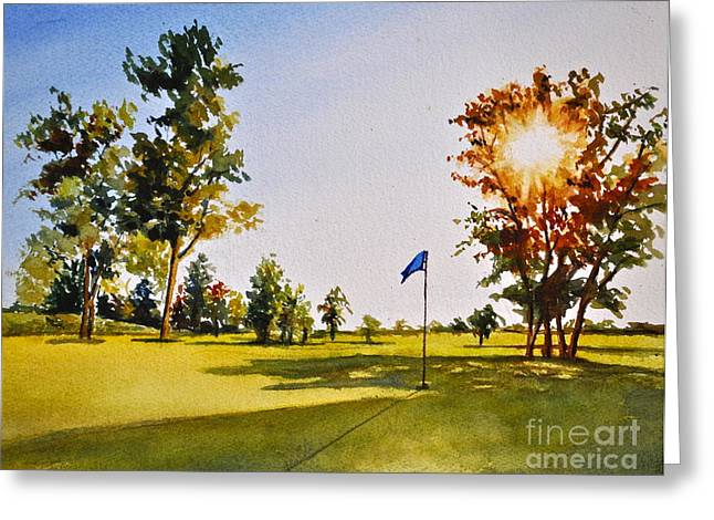 Tee Time Greeting Card by Andrea Timm