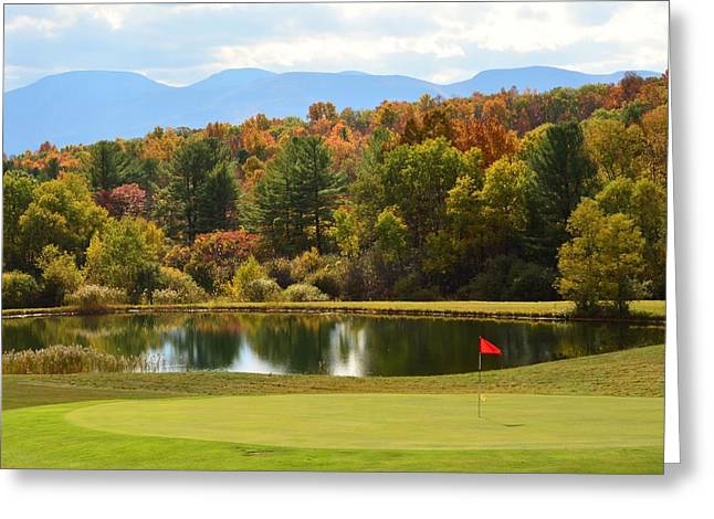 Tee Time Greeting Card by Judy Genovese