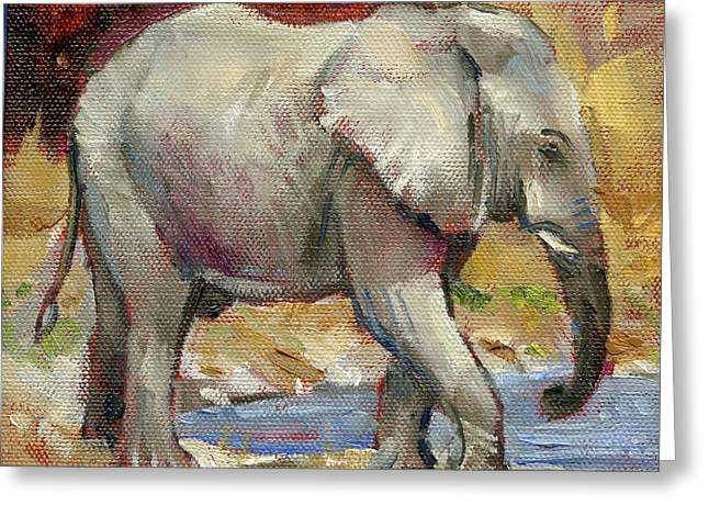 Teenage Tusker Greeting Card by Ron Wilson
