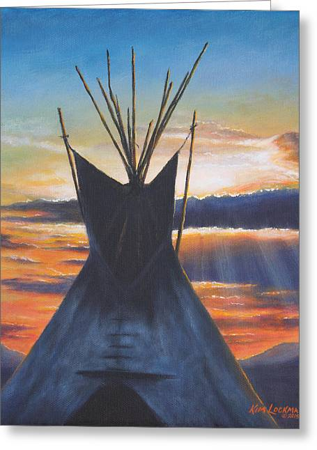 Teepee At Sunset Part 1 Greeting Card