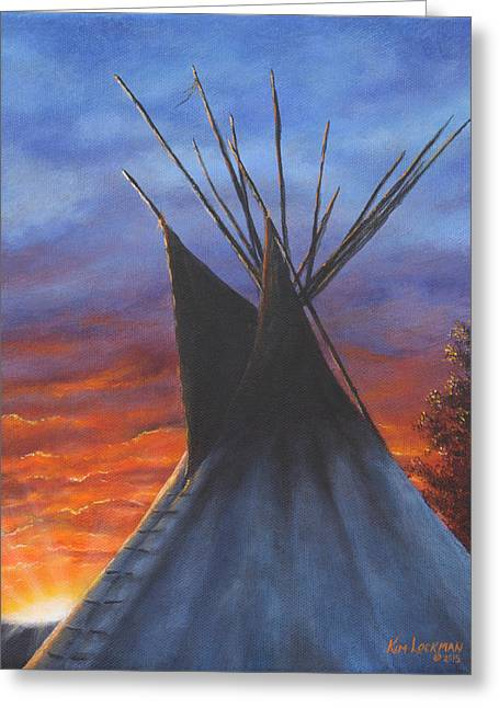 Teepee At Sunset Part 2 Greeting Card