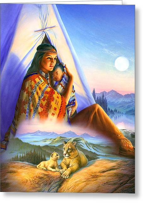 Teepee Of Dreams Greeting Card by Andrew Farley