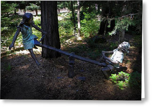 Teeter Totter Greeting Card by Frank Wilson