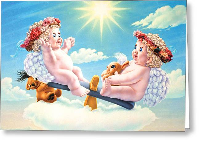 Teeter Tutter See Saw Greeting Card