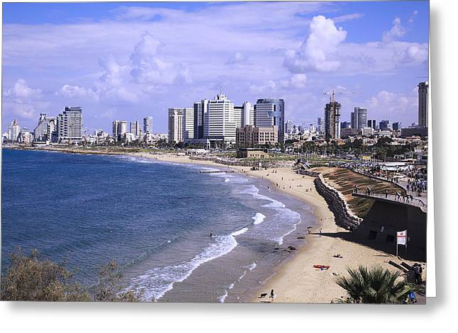 Tel Aviv Beach Greeting Card