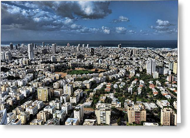 Greeting Card featuring the photograph Tel Aviv Center by Ron Shoshani