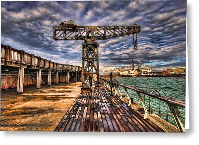 Tel Aviv Port At Winter Time Greeting Card