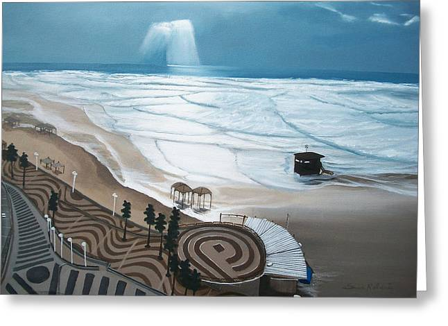 Greeting Card featuring the painting Tel-aviv by Susan Roberts