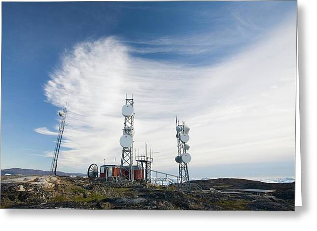 Telecommunication Equipment Greeting Card by Ashley Cooper