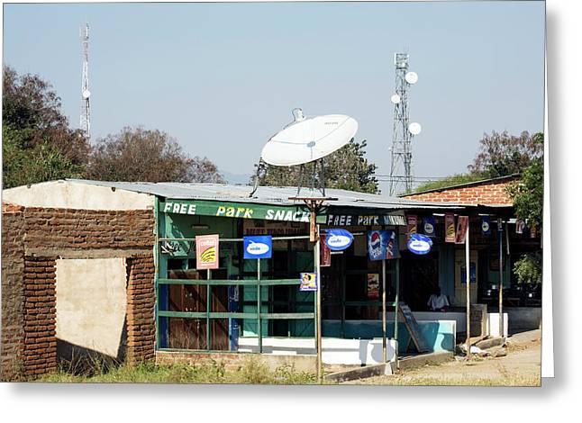 Telecommunications Dish And Mast Greeting Card