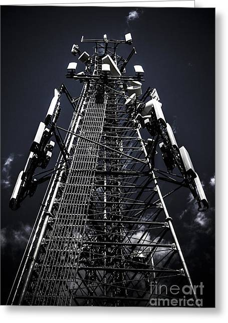 Telecommunications Tower Greeting Card by Jorgo Photography - Wall Art Gallery