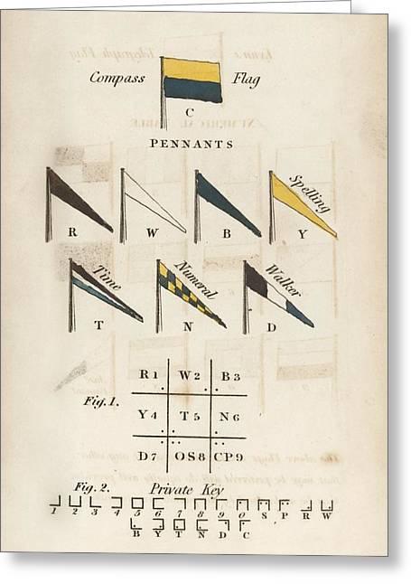 Telegraph Flag System Greeting Card