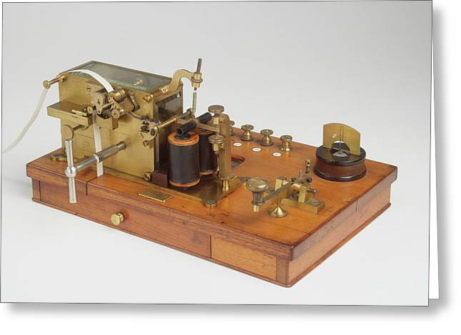 Telegraph Receiver Printed Morse Code Greeting Card