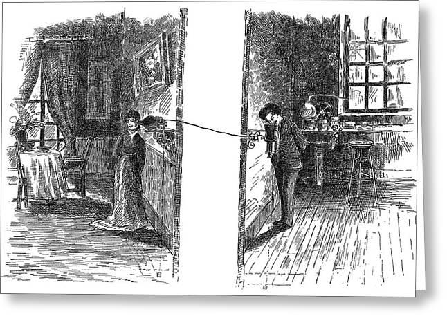 Telephone, 1876 Greeting Card