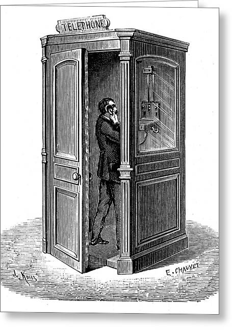 Telephone Call Box Greeting Card by Universal History Archive/uig