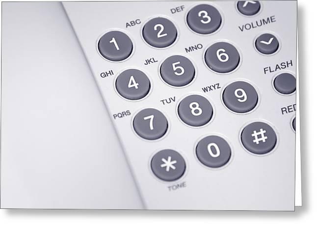 Telephone Greeting Card by Modern Art Prints