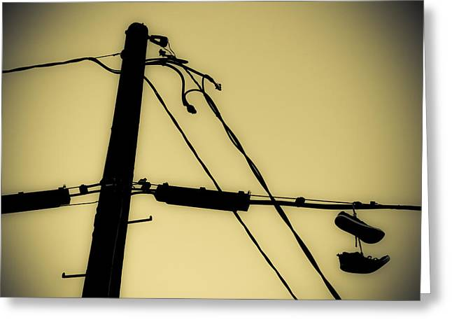 Telephone Pole And Sneakers 2 Greeting Card