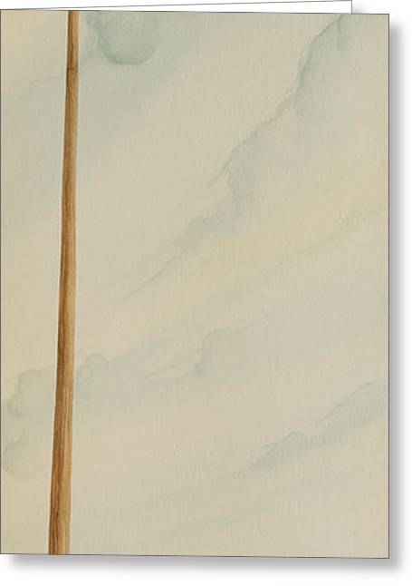Greeting Card featuring the painting Telephone Pole by Scott Kirby