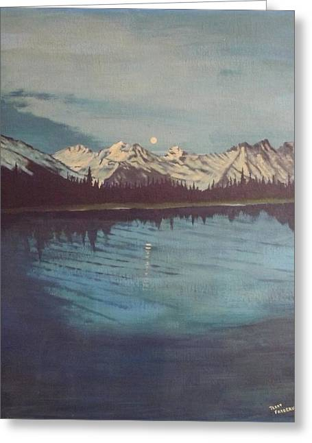 Greeting Card featuring the painting Telequana Lk Ak by Terry Frederick