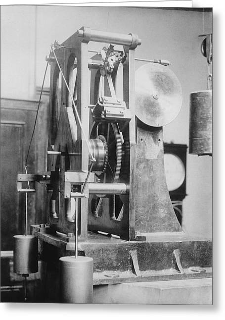 Telescope Clock, Sydney Observatory Greeting Card by Science Photo Library