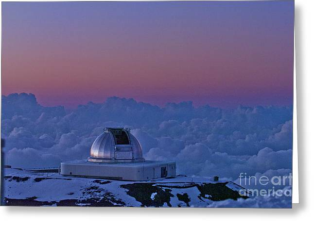 Telescope Greeting Card by Karl Voss