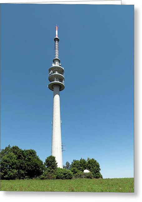 Television Tower Greeting Card